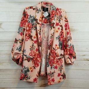NWT Boom Boom Jeans floral blazer size Large